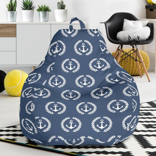 Anchor Pattern Print Design 04 Bean Bag Chair-JORJUNE.COM