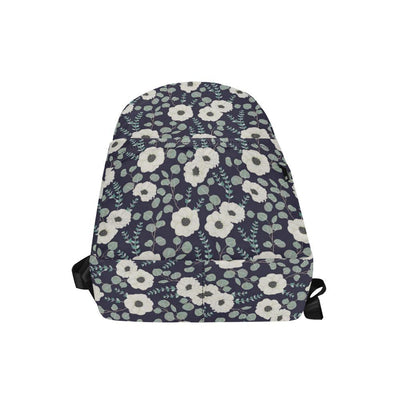 Anemone Pattern Print Design AM01 Unisex Nylon Backpacks-JorJune