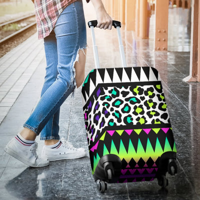 Animal Skin Aztec Rainbow Luggage Cover Protector