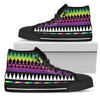 Animal Skin Aztec Rainbow Men High Top Shoes