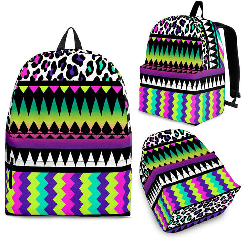 Animal Skin Aztec Rainbow Premium Backpack