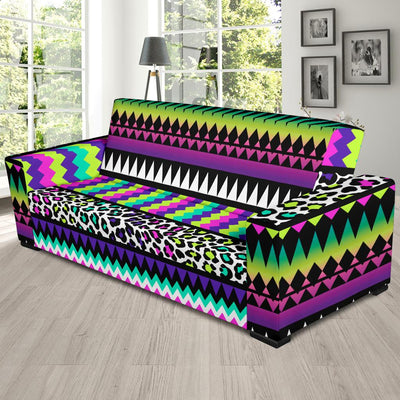 Animal Skin Aztec Rainbow Sofa Slipcover-JORJUNE.COM