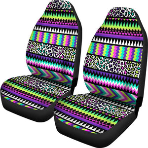 Animal Skin Aztec Rainbow Universal Fit Car Seat Covers