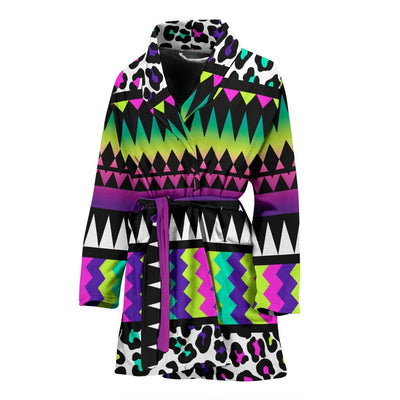 Animal Skin Aztec Rainbow Women Bath Robe