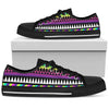 Animal Skin Aztec Rainbow Women Low Top Shoes