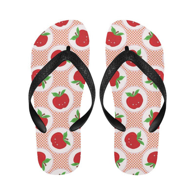 Apple Pattern Print Design AP08 Flip Flops-JorJune