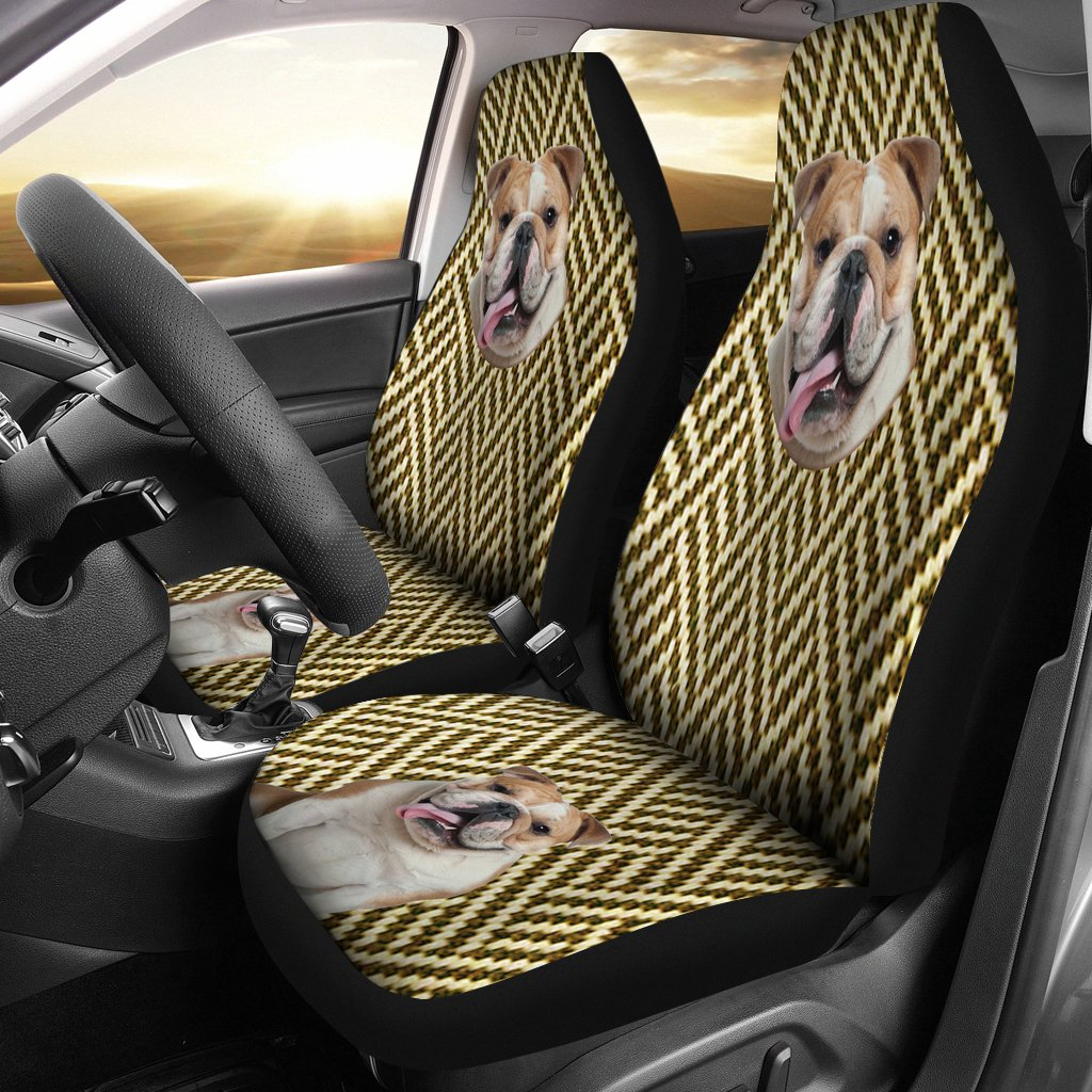 Australian Bulldog Design Print Universal Fit Car Seat Covers
