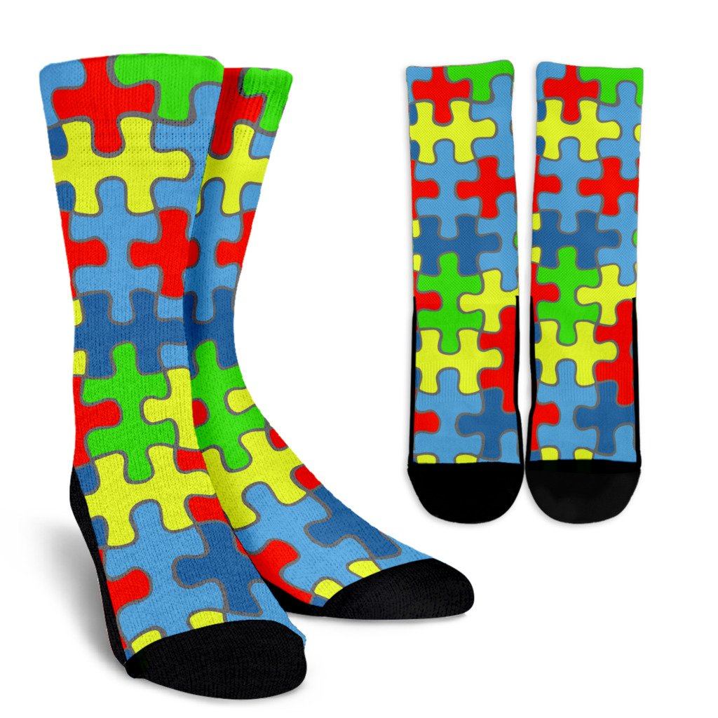 Autism Awareness Crew Socks