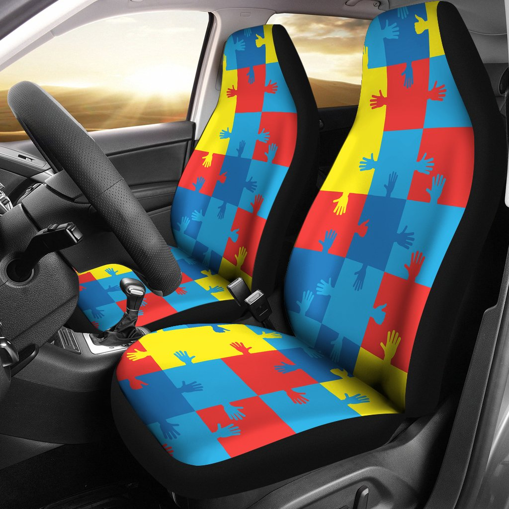 Autism Awareness Design Themed Print Universal Fit Car Seat Covers