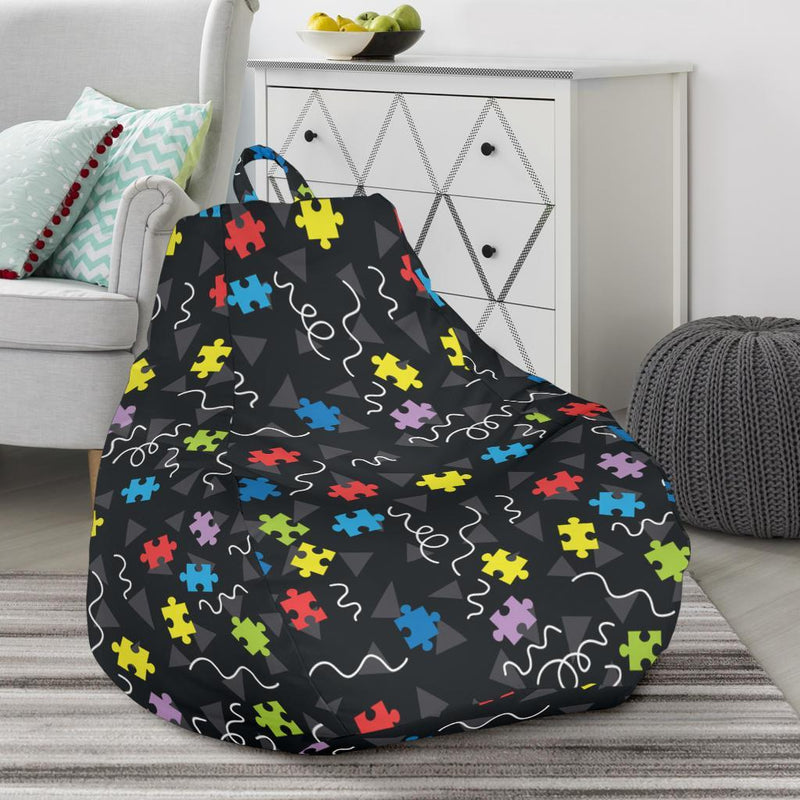 Autism Awareness Pattern Print Design 01 Bean Bag Chair-JORJUNE.COM