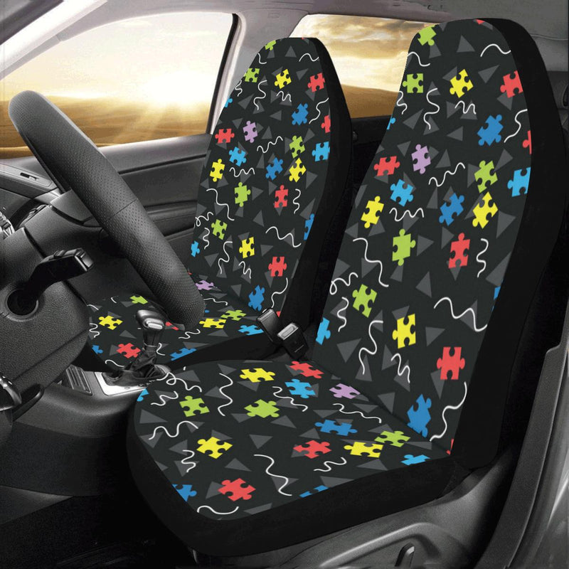 Autism Awareness Pattern Print Design 01 Car Seat Covers (Set of 2)-JORJUNE.COM