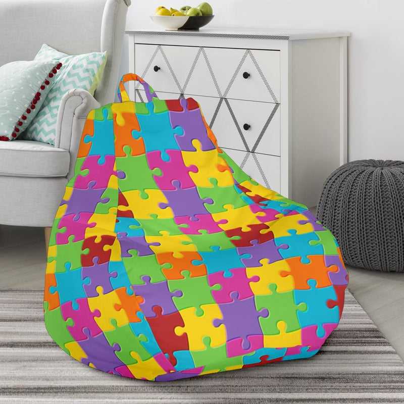 Autism Awareness Pattern Print Design 02 Bean Bag Chair-JORJUNE.COM