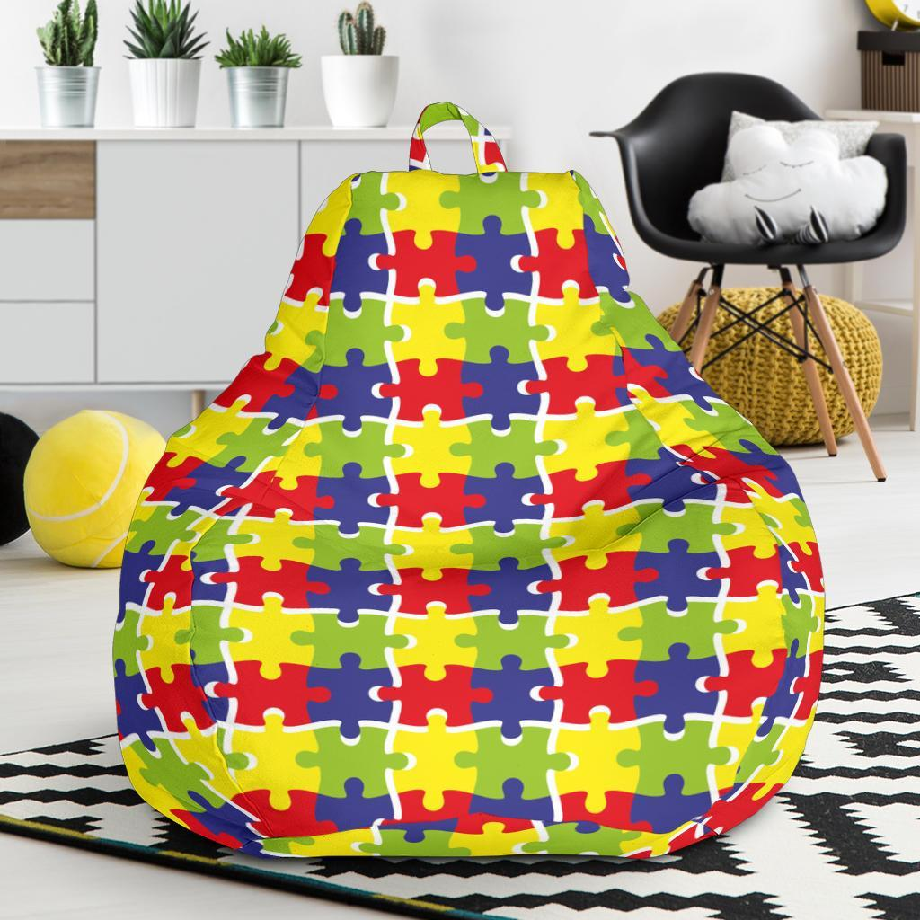 Autism Awareness Pattern Print Design 03 Bean Bag Chair-JORJUNE.COM