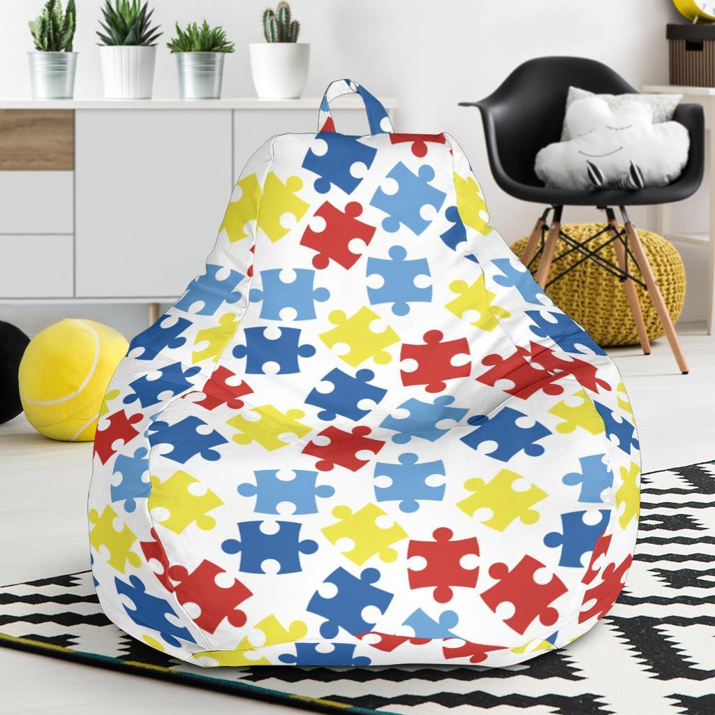 Autism Awareness Pattern Print Design 04 Bean Bag Chair-JORJUNE.COM