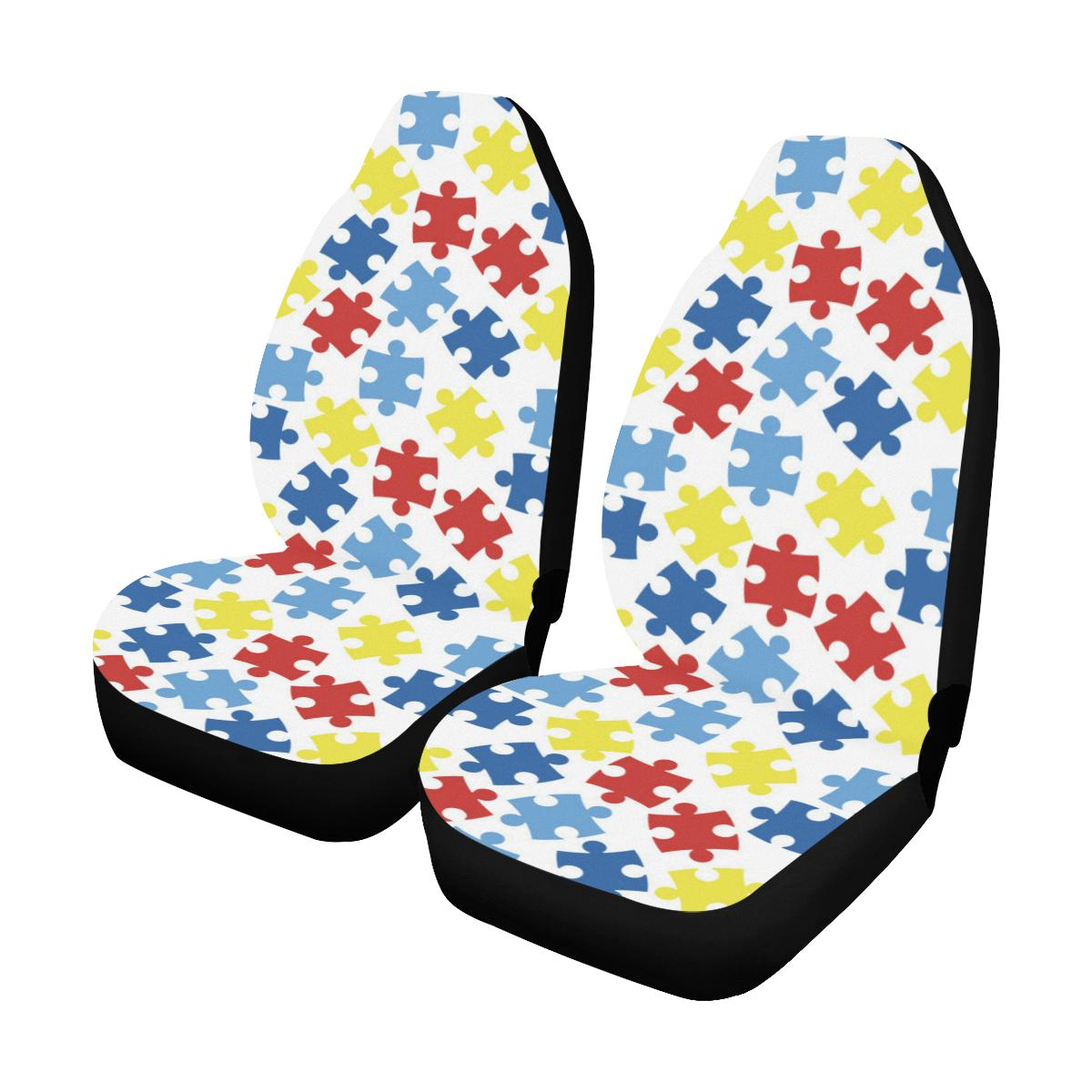 Autism Awareness Pattern Print Design 04 Car Seat Covers (Set of 2)-JORJUNE.COM