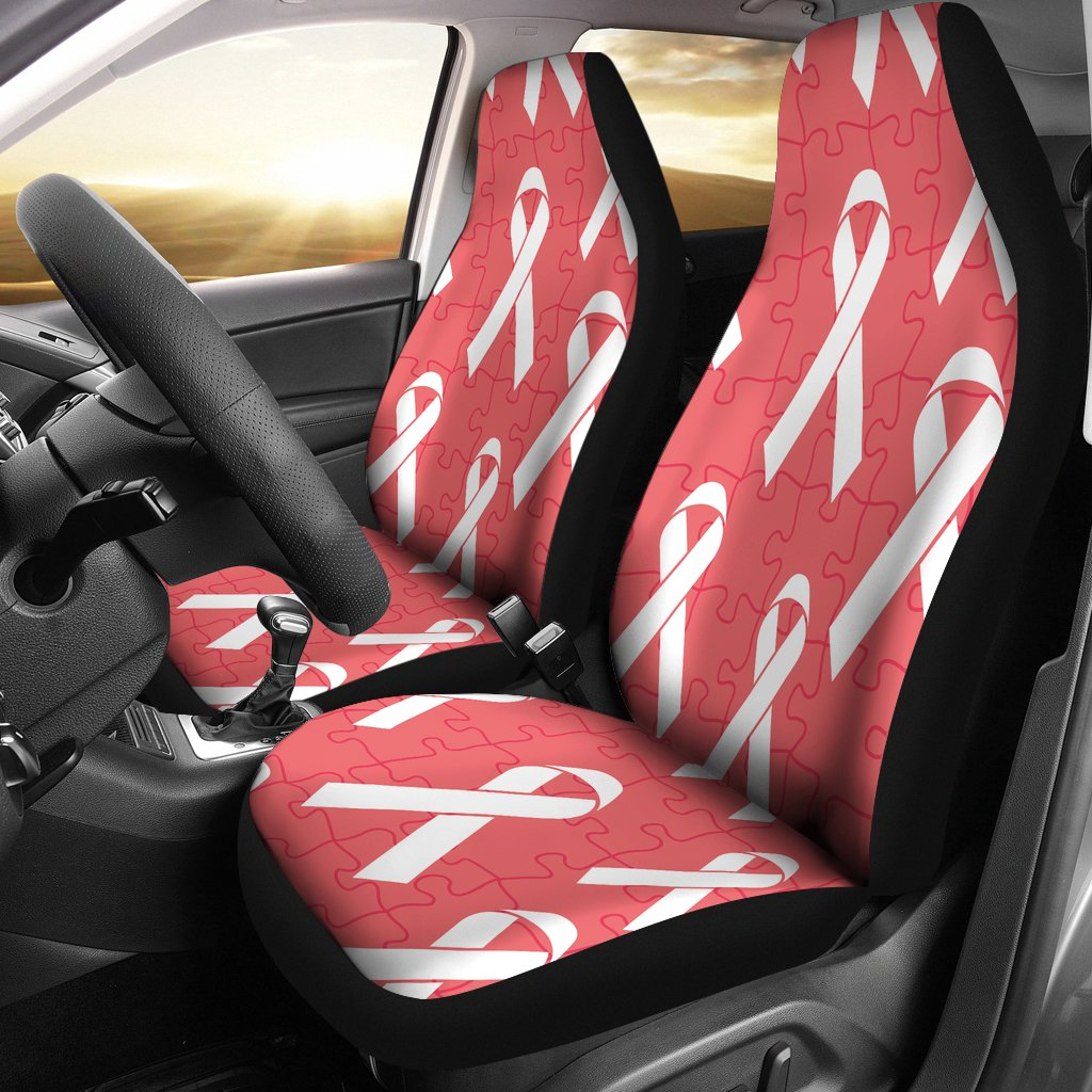 Autism Awareness Ribbon Design Print Universal Fit Car Seat Covers