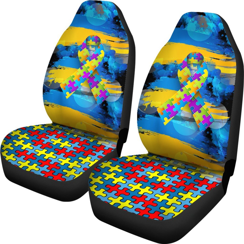 Autism Awareness Universal Fit Car Seat Covers