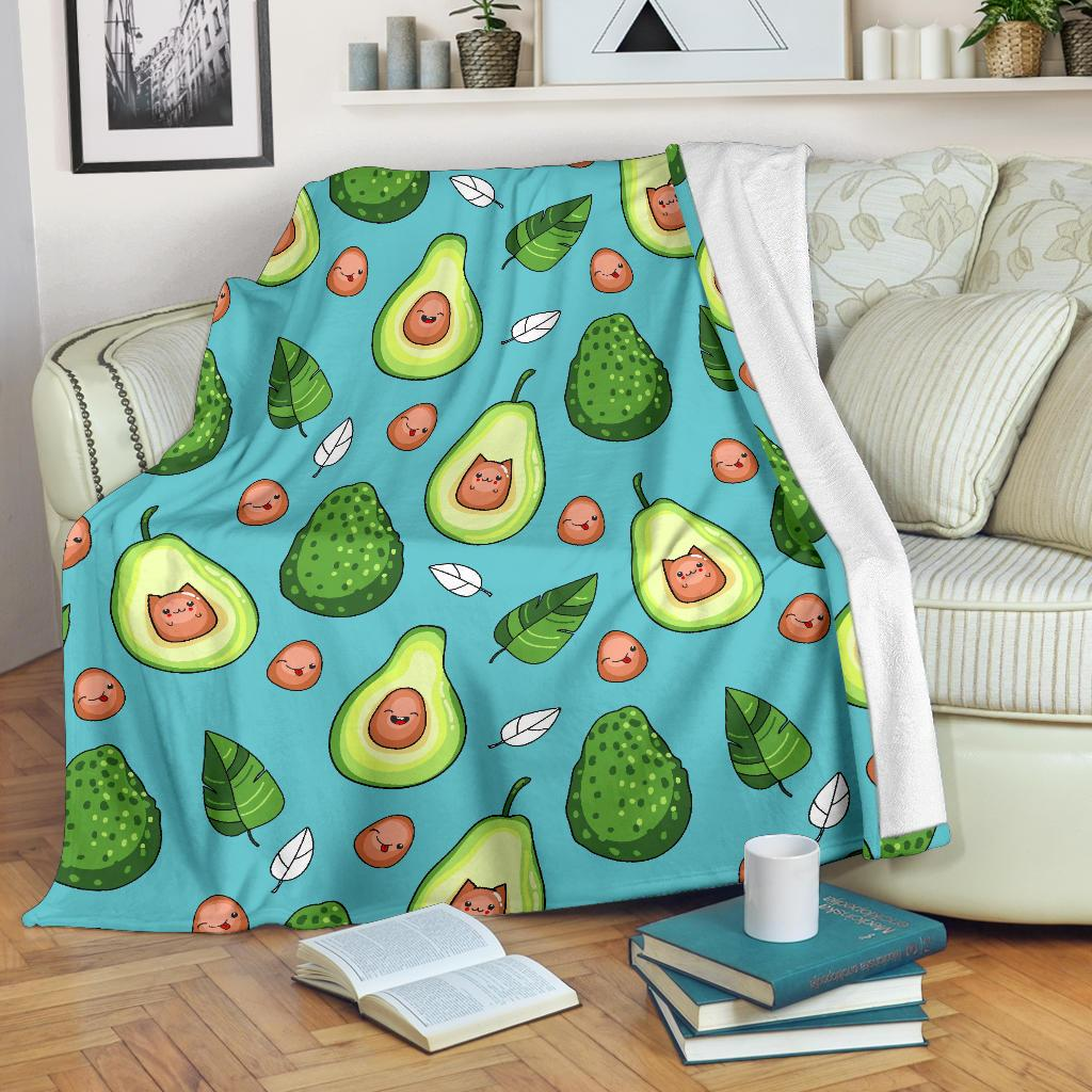 Avocado Pattern Print Design AC05 Fleece Blankete