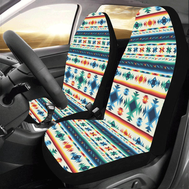 Aztec Pattern Print Design 02 Car Seat Covers (Set of 2)-JORJUNE.COM