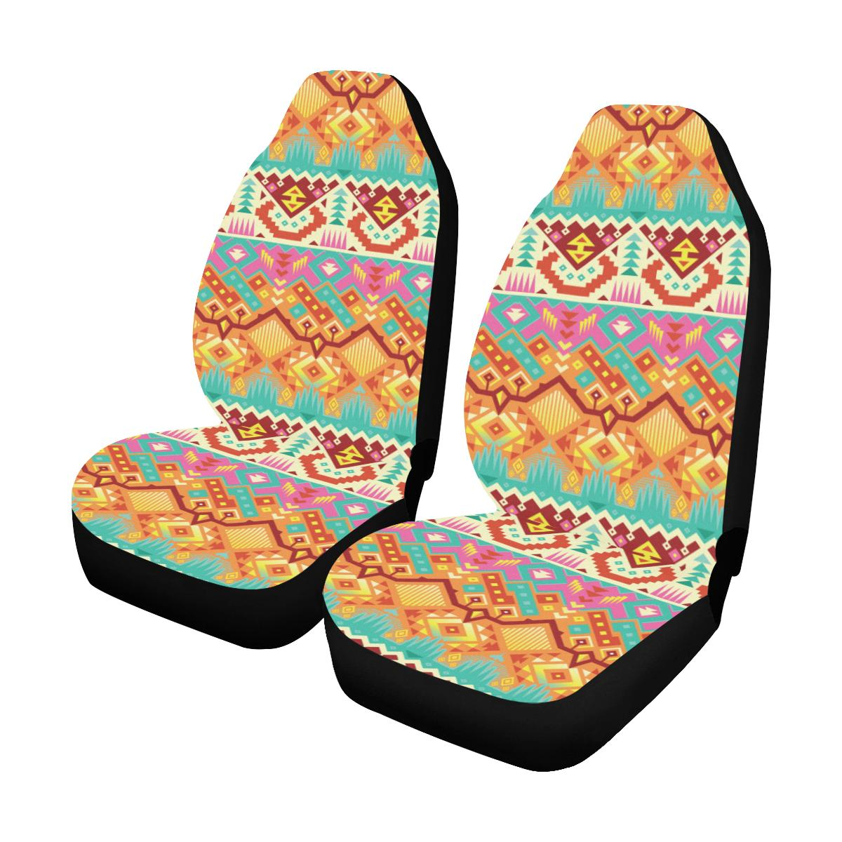 Aztec Pattern Print Design 03 Car Seat Covers (Set of 2)-JORJUNE.COM