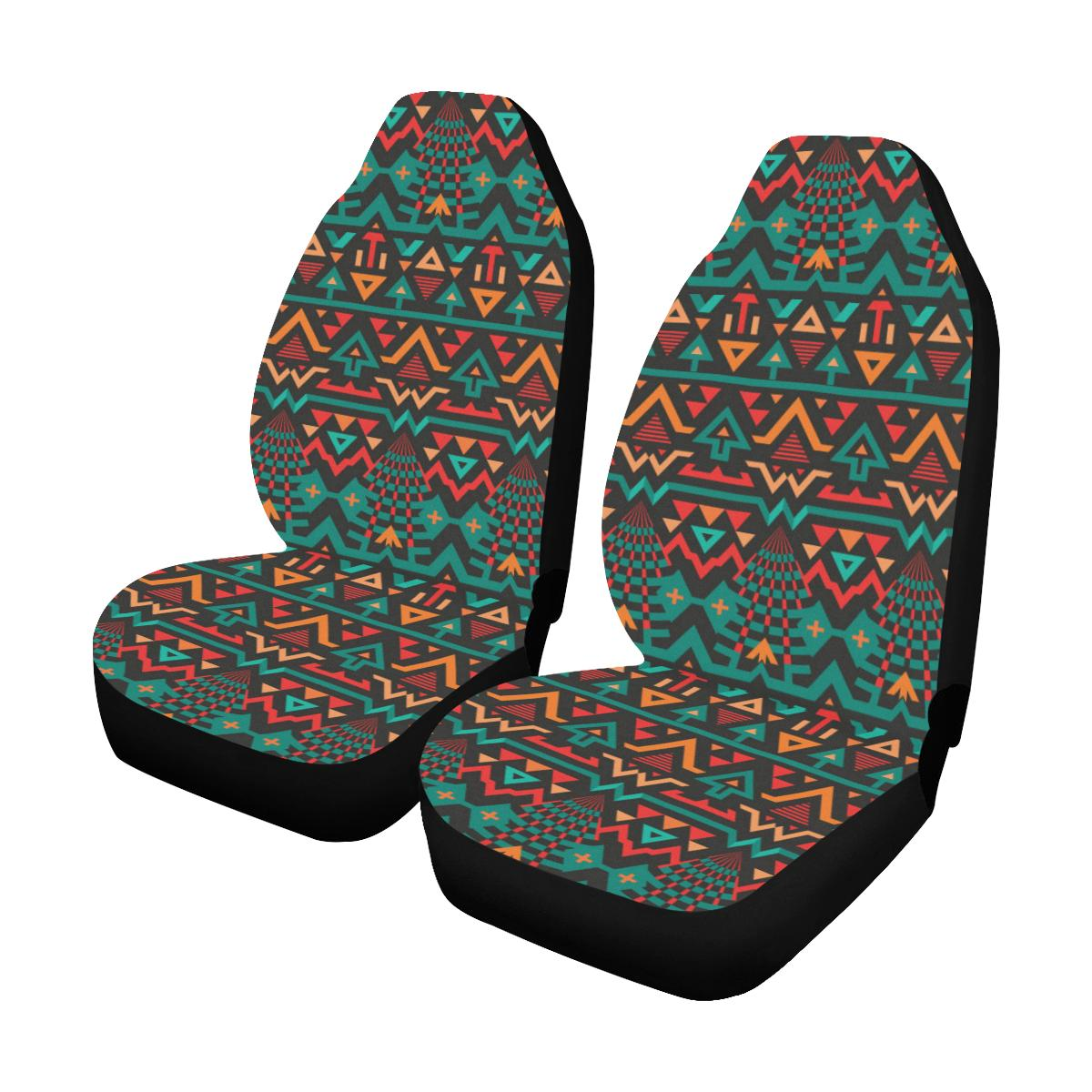 Aztec Pattern Print Design 04 Car Seat Covers (Set of 2)-JORJUNE.COM