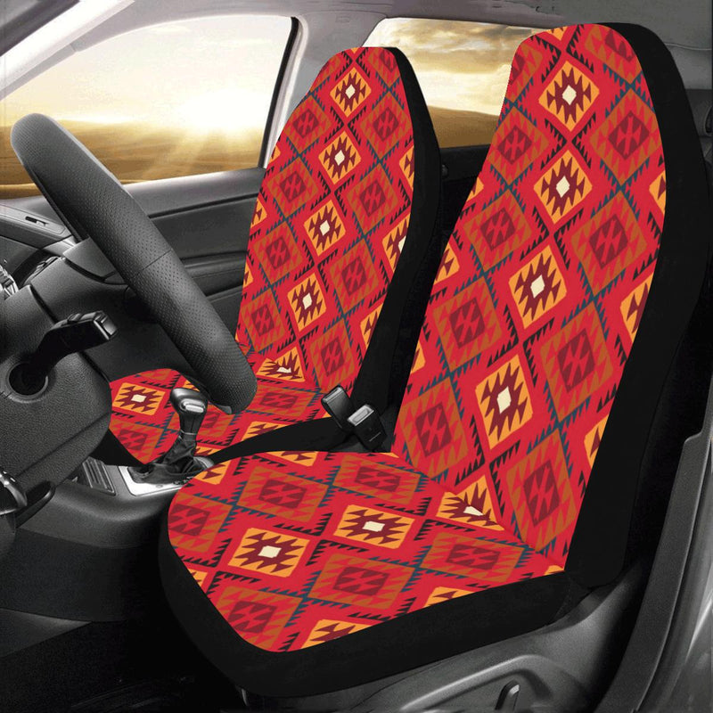 Aztec Pattern Print Design 06 Car Seat Covers (Set of 2)-JORJUNE.COM