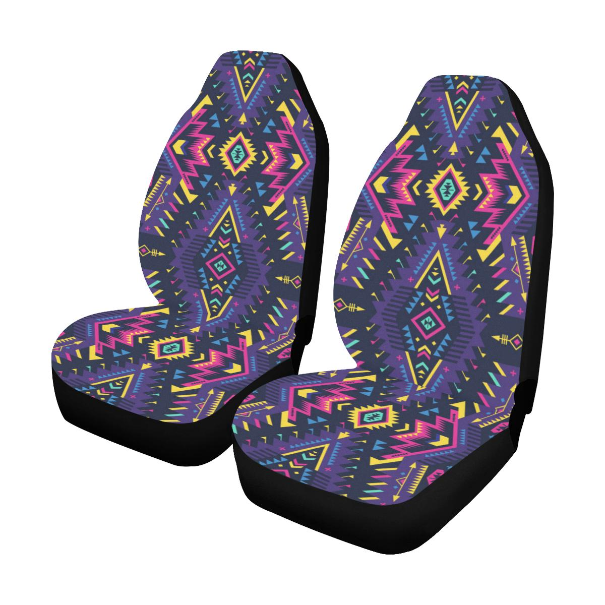 Aztec Pattern Print Design 07 Car Seat Covers (Set of 2)-JORJUNE.COM