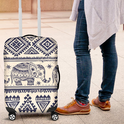 Baby Elephant Aztec Luggage Cover Protector