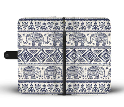 Baby Elephant Aztec Wallet Phone Case