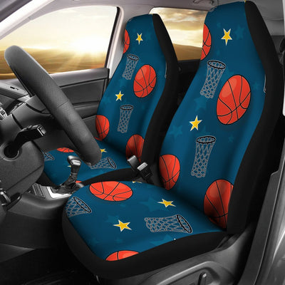 Basketball Classic Print Pattern Universal Fit Car Seat Covers