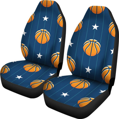 Basketball Star Print Pattern Universal Fit Car Seat Covers