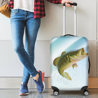 Bass Fishing Luggage Cover Protector