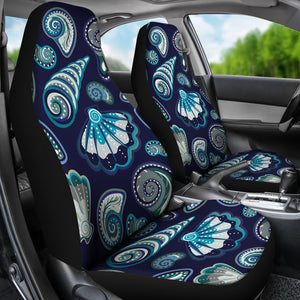Beach Seashell Blue Print Universal Fit Car Seat Covers