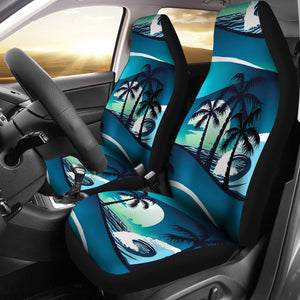 Beach Wave Design Print Universal Fit Car Seat Covers
