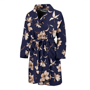 Beautiful Floral Pattern Men Bath Robe