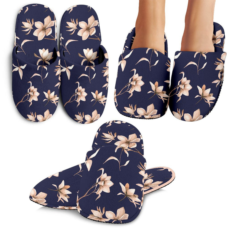 Beautiful Floral Pattern Slippers