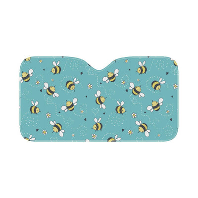 Bee Pattern Print Design BEE02 Car Sun Shade-JorJune