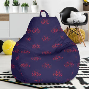 Bicycle Pattern Print Design 01 Bean Bag Chair-JORJUNE.COM