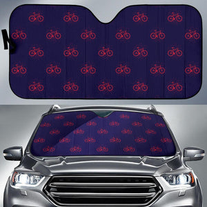 Bicycle Pattern Print Design 01 Car Sun Shade-JORJUNE.COM
