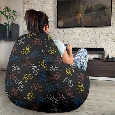 Bicycle Pattern Print Design 03 Bean Bag Chair-JORJUNE.COM