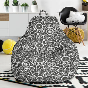 Bicycle Tools Pattern Print Design 02 Bean Bag Chair-JORJUNE.COM