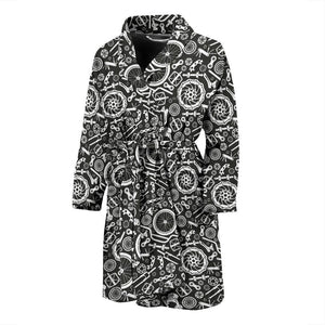 Bicycle Tools Pattern Print Design 02 Men Bathrobe-JORJUNE.COM