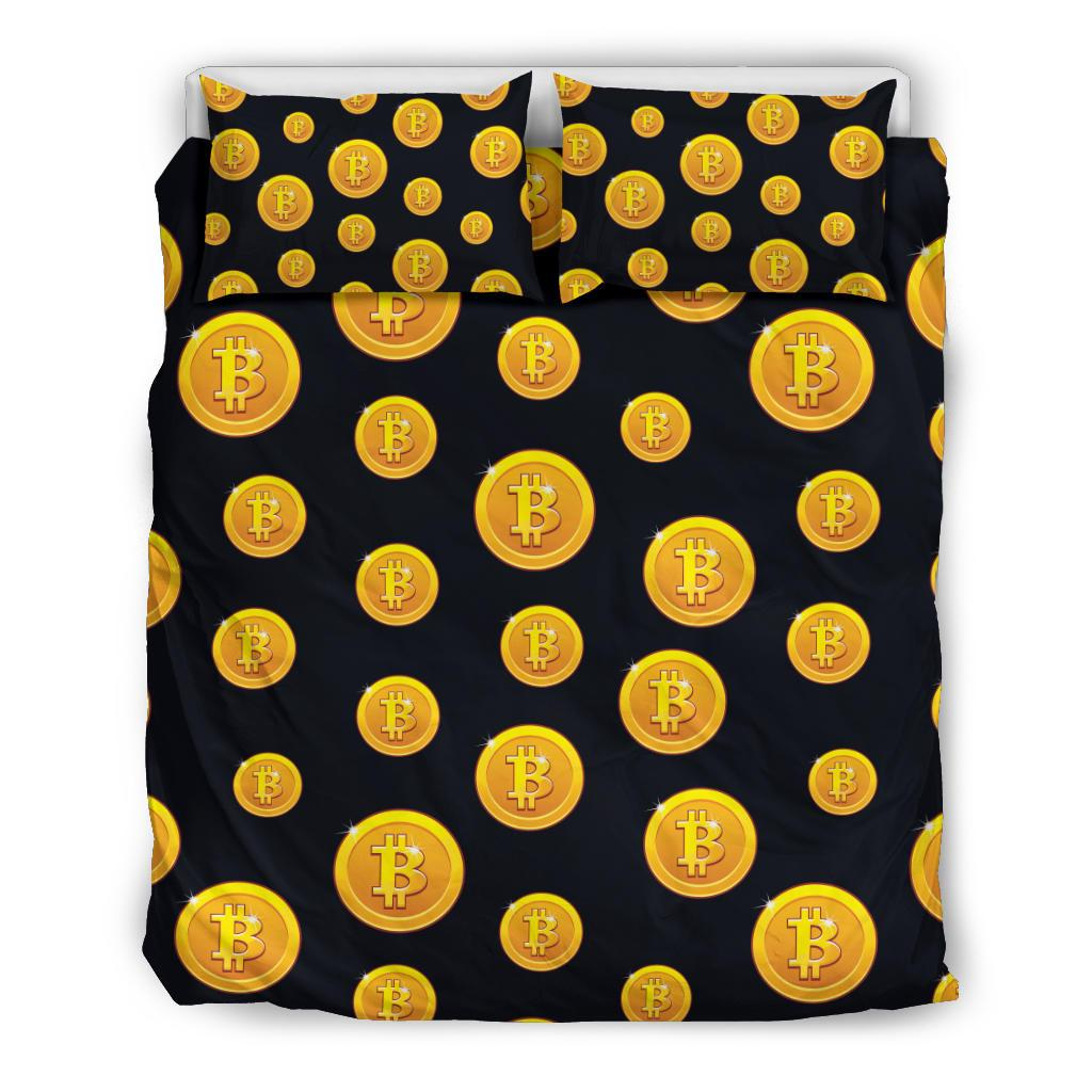 Bitcoin Pattern Print Design DO04 Duvet Cover Bedding Set-JORJUNE.COM