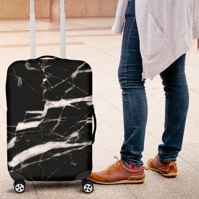 Black and White Marble Luggage Cover Protector