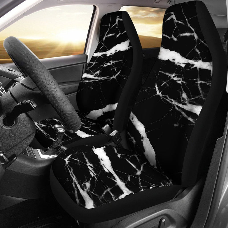Black and White Marble Universal Fit Car Seat Covers