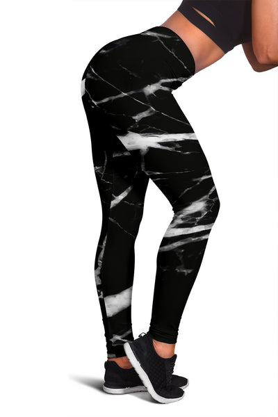 Black and White Marble Women Leggings