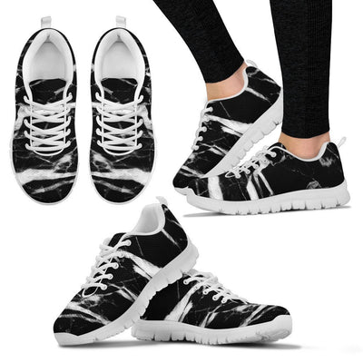 Black and White Marble Women Sneakers