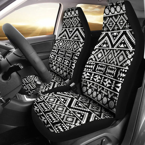 Black White Tribal Aztec Universal Fit Car Seat Covers