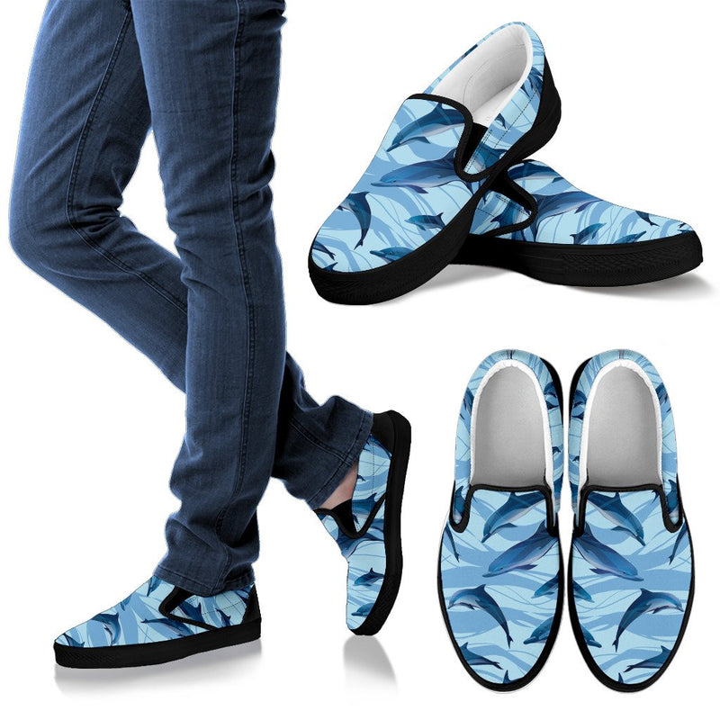 Blue Dolphin Men Canvas Slip On Shoes