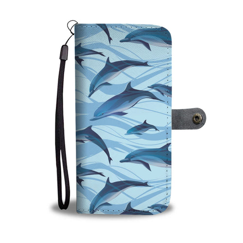 Blue Dolphin Wallet Phone Case